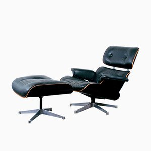 Model 670 and 671 Lounge Chair & Ottoman by Charles & Ray Eames for Herman Miller, 1970s