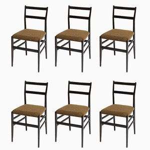 Vintage 646 Leggera Chairs by Gio Ponti for Cassina, Set of 6
