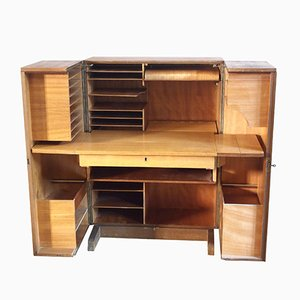 Vintage Hidden Desk Folding Cabinet