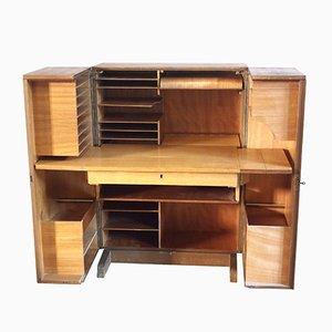 Vintage Hidden Desk Folding Cabinet