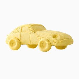 Zitronengelber Keramik Car Sportwagen von Keith Simpson für Fort Makers