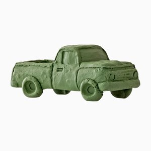 Camioneta verde de Keith Simpson para Fort Makers