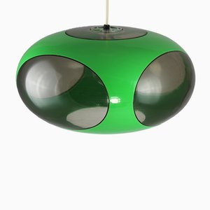 Lampada UFO verde di Luigi Colani, anni '70
