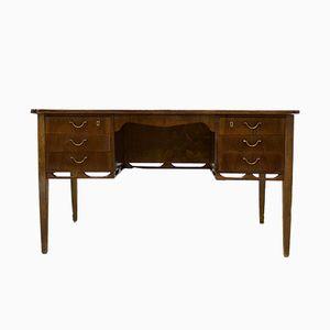 Dänischer Mid-Century Schreibtisch aus Nussholz