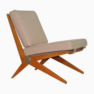 Chaise Ciseaux par Pierre Jeanneret pour Knoll Inc, 1960s