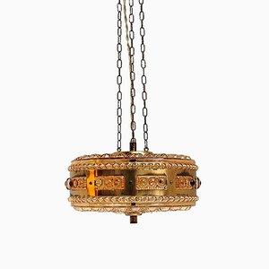 Lampada nr. 4912 in vetro color ambra di Vitrika, anni '60