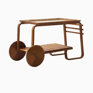 Wooden Tea Trolley, 1940s