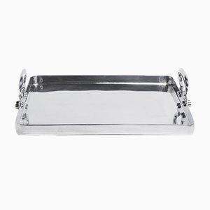 Kleines Colony Tablett aus poliertem Aluminium von Aldo CIbic für Paola C.