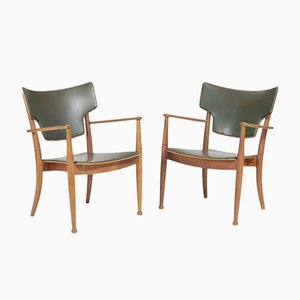 Portex Armchairs by Peter Hvidt & Orla Mølgaard Nielsen for Fritz Hansen, 1945, Set of 2