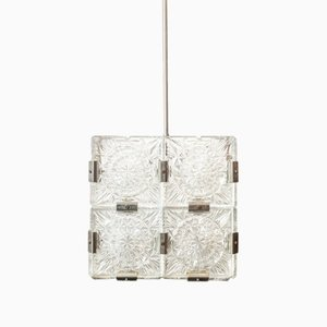 Czech Cube Hanging Lamp, 1960s