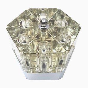 Lampada da tavolo in vetro di Fidenza Vetraria, anni '70