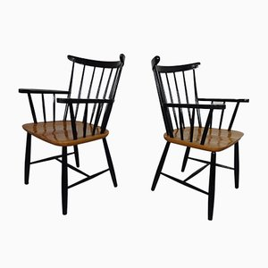 Vintage Armchairs by Ilmari Tapiovaara, Set of 2