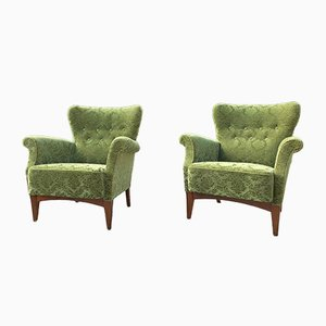 Armchairs from Fritz Hansen, 1940s, Set of 2