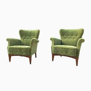 Armchairs from Fritz Hansen, 1940s, Set of 2
