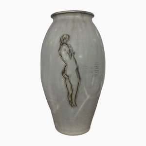 Ceramic Nude Woman Vase, 1960s