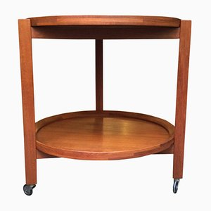 Round Danish Serving Trolley from Sika Møbler, 1960s