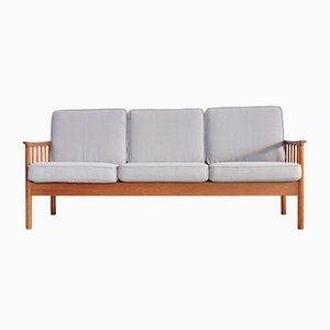 Scandinavian Teak Sofa Bench, 1950s