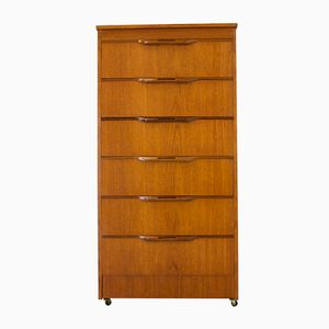 Mid-Century Teak Tallboy Chest of Drawers