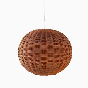 Mid-Century Wicker Ceiling Lamp, 1960s