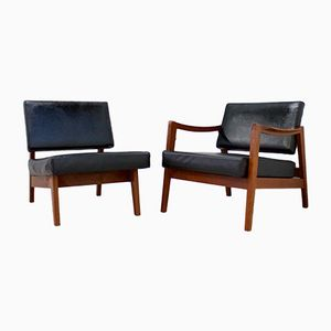 Teak Armchair and Lounge Chair by Robin & Lucienne Day for Hille, 1960s
