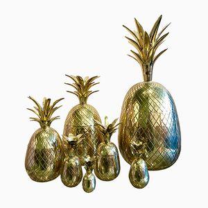 Ananas Behälter aus dekorativem Messing, 1960er