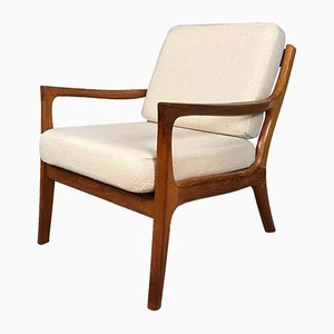 Danish Teak & Wool Easy Chair, 1960s