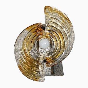 Lampada da tavolo o da parete in vetro di Murano di Mazzega, anni '70