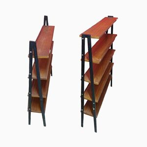 Dänische Bücherregale aus Teak, 1960er, 2er Set