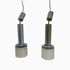 Lámparas de araña de Gaetano Sciolari, años 60. Juego de 2