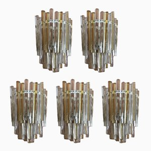 Wall Lamps by Carlo Scarpa for Venini, 1960s, Set of 5