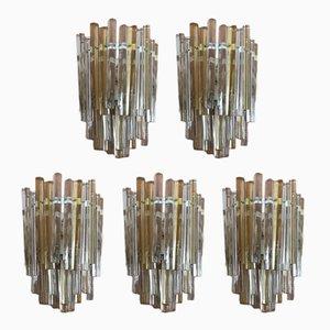 Wandlampen von Carlo Scarpa für Venini, 1960er, 5er Set