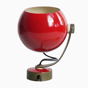 Rote Wandlampe in Augapfelform, 1960er