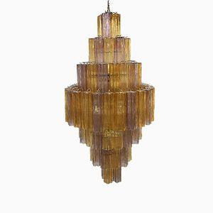 Lampadario grande Tronchi in vetro di Murano di Italian light design