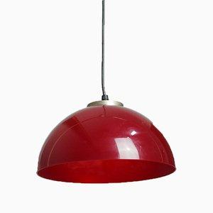 Lámpara de techo en frambuesa, años 60