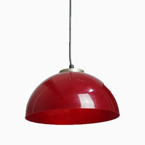 Raspberry Red Ceiling Light, 1960s