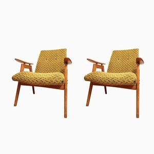 Sessel in Schwarz & Gelb von Jiri Jiroutek für Interier Praha, 1960er, 2er Set