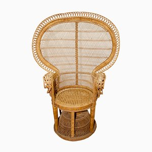 Model Emmanuelle Peacock Rattan Armchair from Kok Maison, 1970s
