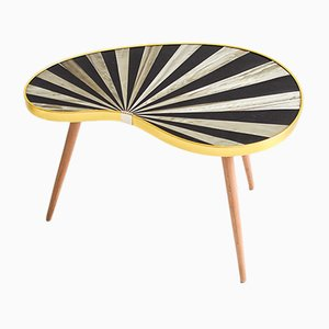 Mid-Century Striped Kidney Table, 1960s