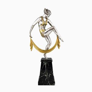 Silvered Bronze Sculpture by Raymonde Guerbe, 1925