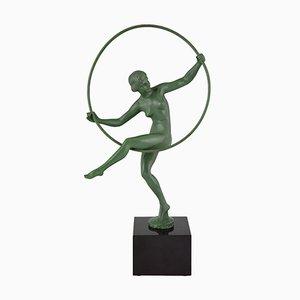 Figurina a forma di danzatrice Art Déco di Marcel Bouraine per Max Le Verrier
