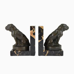 Vintage Art Deco Bulldog Bookends by Max Le Verrier