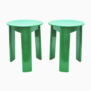 Green Trio Stools by Olaf von Bohr for Gedy, 1970s, Set of 2