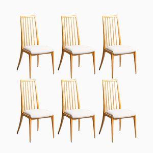 Deutsche Mid-Century Stühle, 1960er, 6er Set