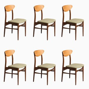 Dänische Mid-Century Stühle, 1960er, 6er Set