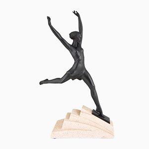 Sculpture de Femme Olympique Art Déco par Fayral pour Max Le Verrier, 1930s