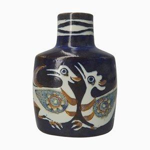 Vase Oiseau en Faïence par Nils Thorsson pour Royal Copenhagen, 1960s