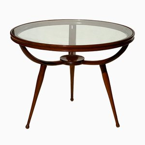 Round Italian Coffee Table, 1950s