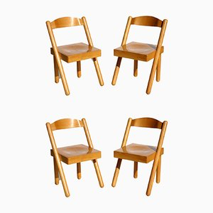 Iva Dining Chairs by Roberto Pamio & Renato Toso for Stilwood, 1972, Set of 4