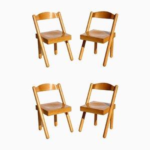 Iva Esszimmerstühle von Roberto Pamio & Renato Toso für Stilwood, 1972, 4er Set