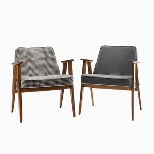 Vintage Model 366 Armchairs by Józef Chierowski, Set of 2